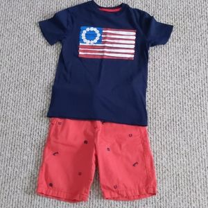 Boys Patriotic Shirt & Shorts SET EUC size M